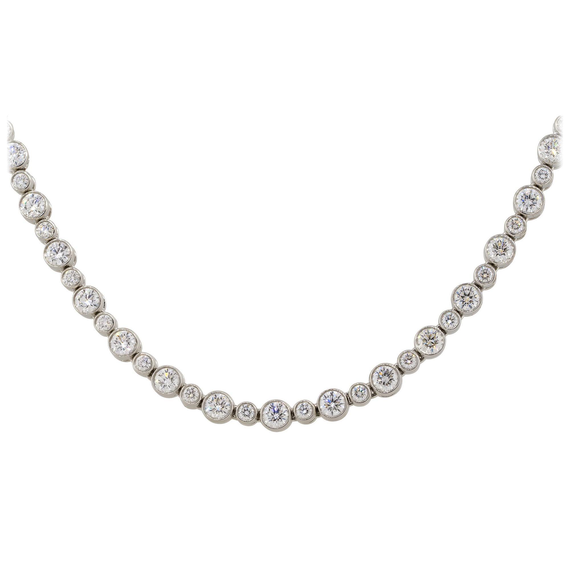 Tiffany & Co. Platinum Jazz 3.07ctw Round Diamond Tennis Necklace