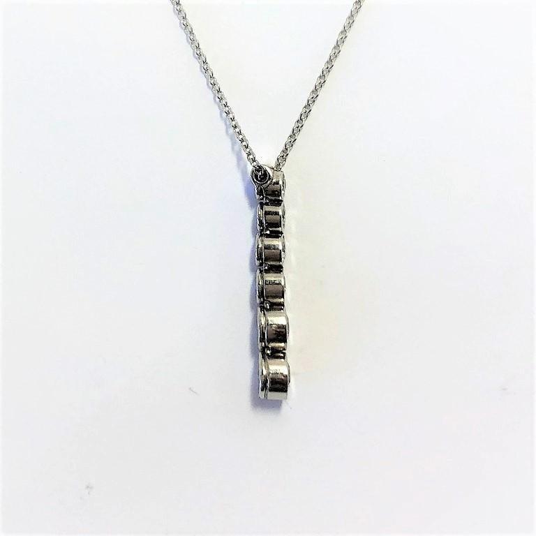 Round Cut Tiffany & Co. Platinum Jazz, Graduated Diamond Drop Pendant For Sale