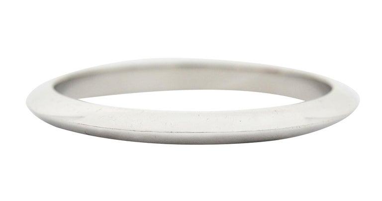 Contemporary Tiffany & Co. Platinum Knife Edge Wedding Band Ring
