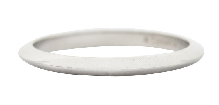 Tiffany & Co. Platinum Knife Edge Wedding Band Ring In Excellent Condition In Philadelphia, PA