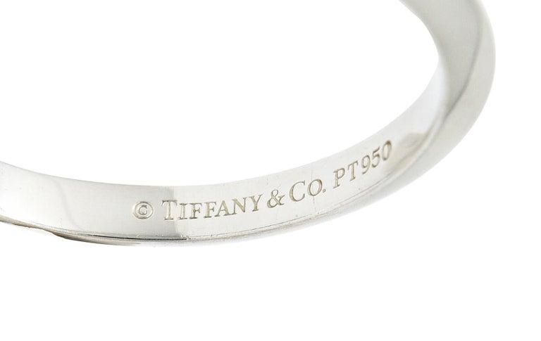 Women's or Men's Tiffany & Co. Platinum Knife Edge Wedding Band Ring