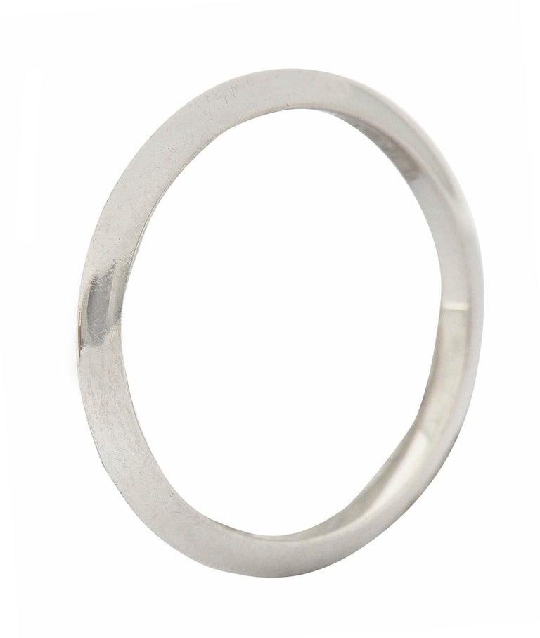 Tiffany & Co. Platinum Knife Edge Wedding Band Ring 1