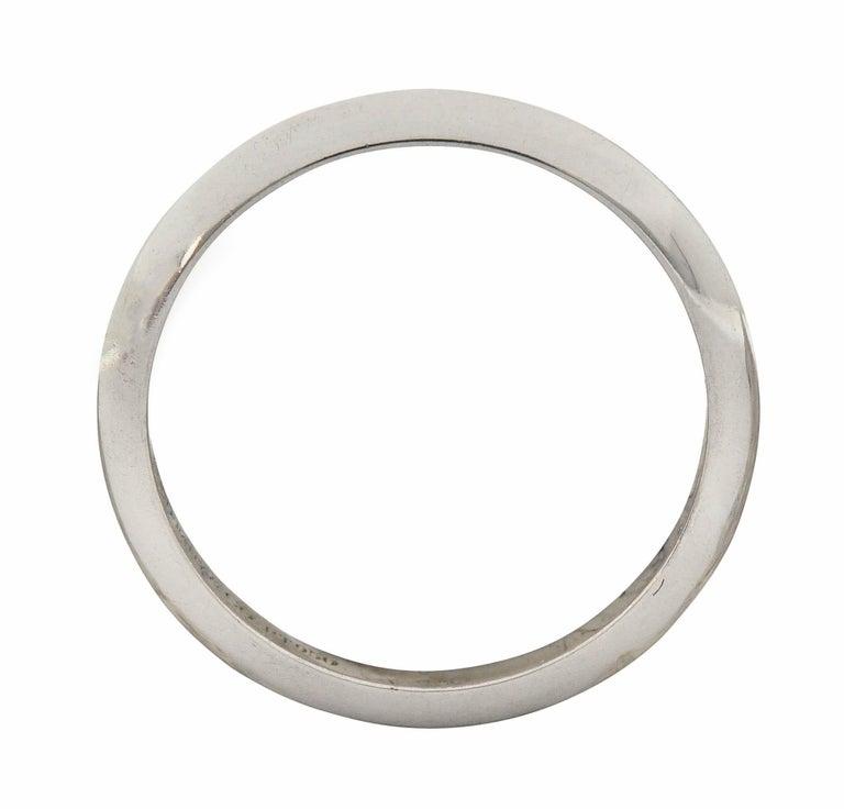 Tiffany & Co. Platinum Knife Edge Wedding Band Ring 2