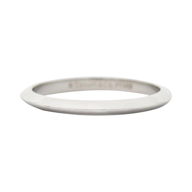 Tiffany & Co. Platinum Knife Edge Wedding Band Ring