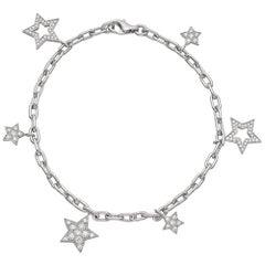 Tiffany & Co. Platinum Ladies Star Collection Diamond Bracelet with Receipt
