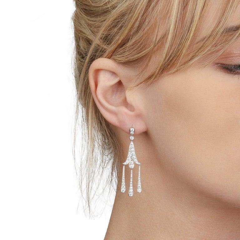 Tiffany & Co. Platinum Legacy Diamond Chandelier Drop Earrings For Sale 3