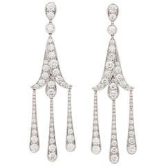 Tiffany & Co. Platinum Legacy Diamond Chandelier Drop Earrings
