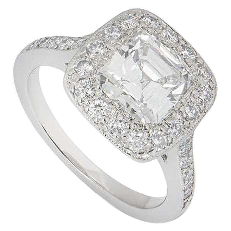 Tiffany & Co. Platinum Legacy Diamond Ring 1.54 Carat GIA Certified