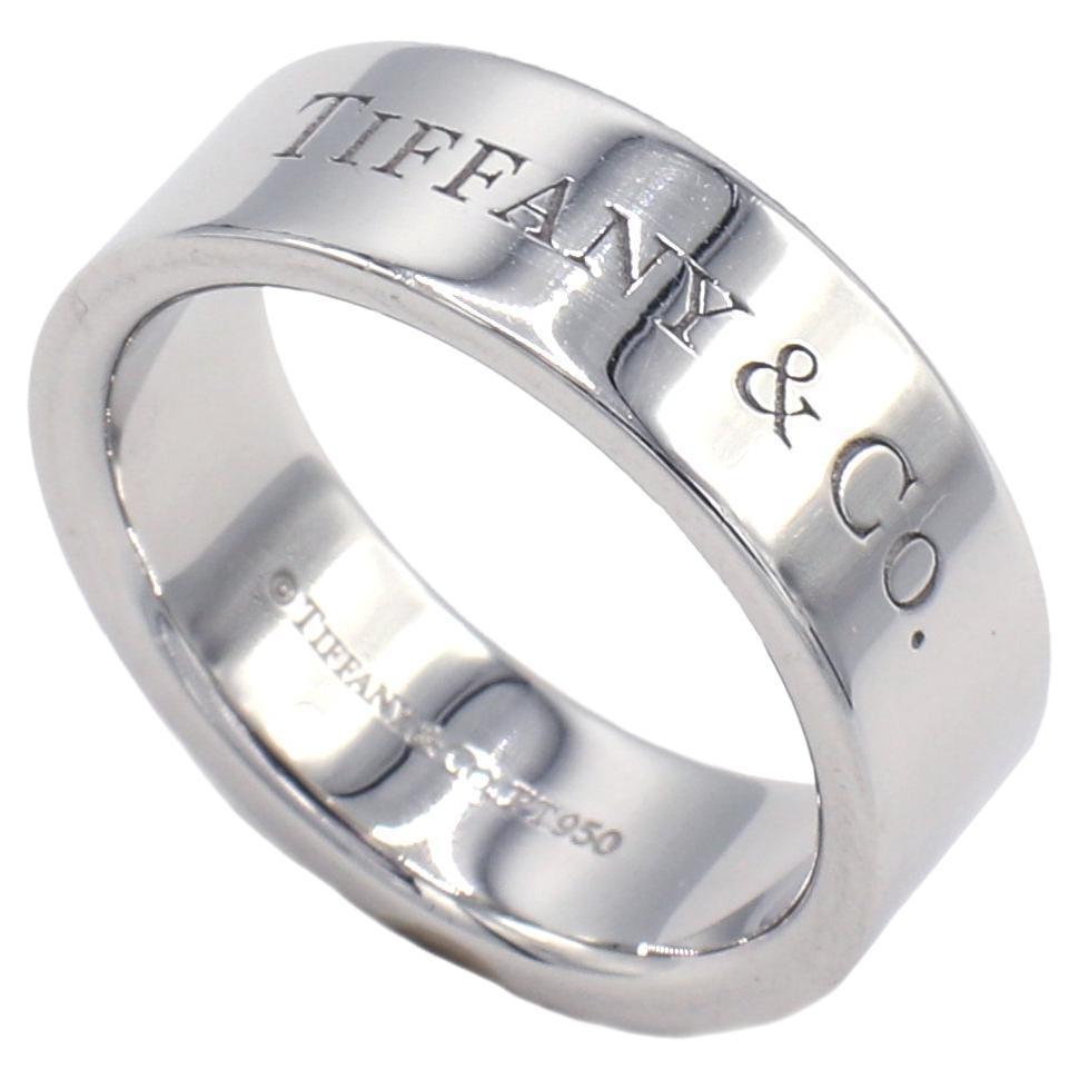 Tiffany & Co. Platinum Logo Wedding Band Ring
