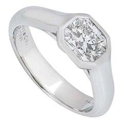 Tiffany & Co. Platinum Lucida Diamond Ring 1.03 Carat F Color /IF Clarity