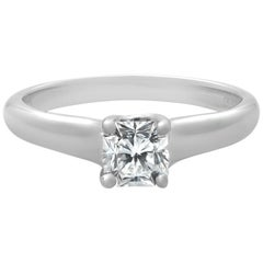 Tiffany & Co. Platinum Lucida Solitaire Diamond Engagement Ring 0.41 Carat