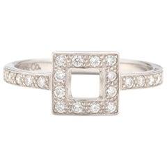 Tiffany & Co. Platinum Open Square Cutout Diamond Band