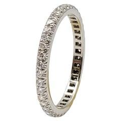 Tiffany & Co. Platinum Pavé Diamond Eternity Band