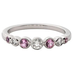 Tiffany & Co. Platinum Pink Sapphire and Diamond Ring