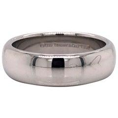 Tiffany & Co. Platinum Polished Wedding Band Ring