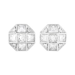 Tiffany & Co. Platinum Princess Cut 1.15 Ct Diamond Mosaic Earrings
