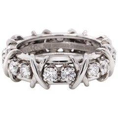 Tiffany & Co. Platinum Schlumberger 16-Stone Band Ring