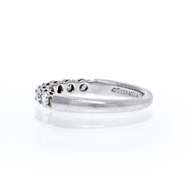 Modern Tiffany & Co. Platinum Seven Stone Wedding Band