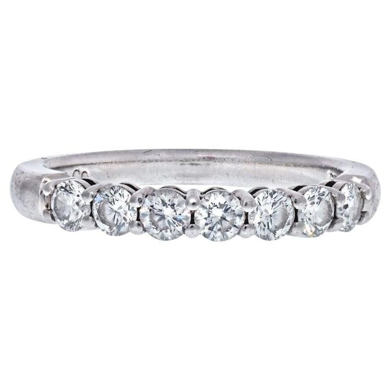 Tiffany & Co. Platinum Seven Stone Wedding Band