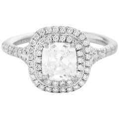 Tiffany & Co. Platinum Soleste 1.5 Carat TW Engagement Ring