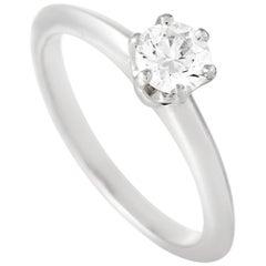 Tiffany & Co. Platinum Solitaire 0.43 Carat Diamond Engagement Ring