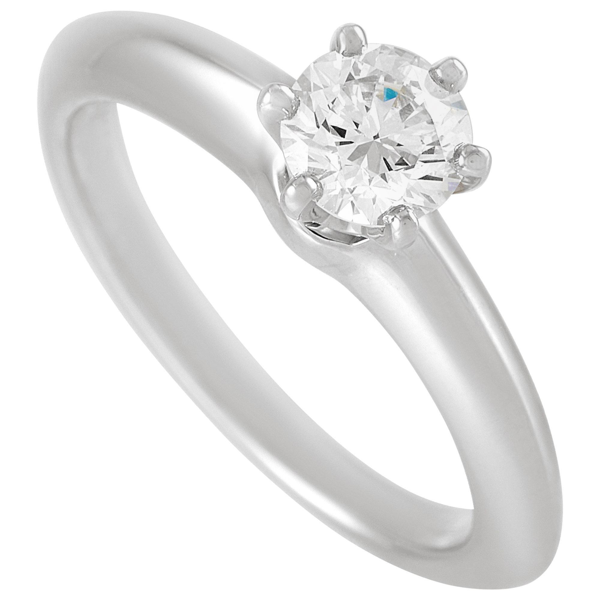 Tiffany & Co. Platinum Solitaire 0.52 Carat Diamond Ring