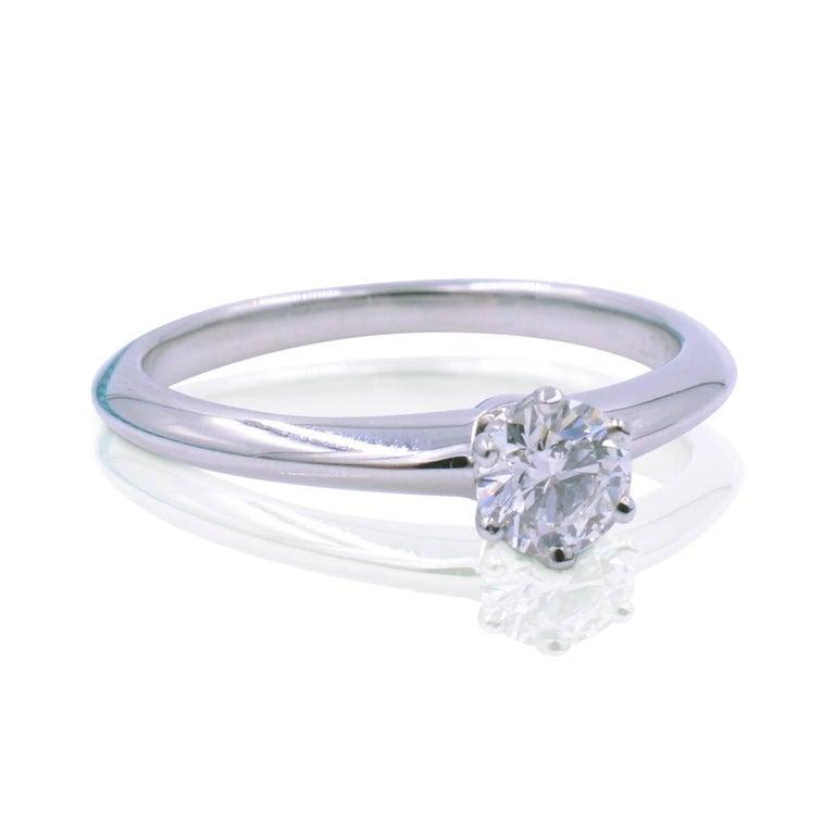 db5651eb909 Ladies diamond engagement ring crafted in Platinum set with round brilliant  cut diamond of 0.23ct
