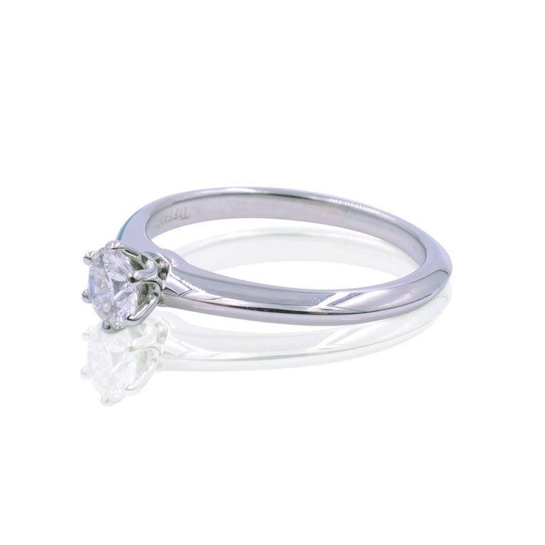 451b22a8187 Modern Tiffany   Co. Platinum Solitaire Diamond 0.23 Carat F-Color VVS1 -Clarity