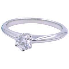 Tiffany & Co. Platinum Solitaire Diamond Engagement Ladies Ring 0.22 Carat