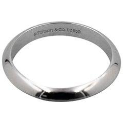 Tiffany & Co. Platinum Wedding Band Ring Knife Edge 3 mm