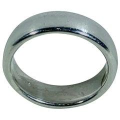 Tiffany & Co. Platinum Wide Plain Wedding Band Ring 15 Grams, Estate