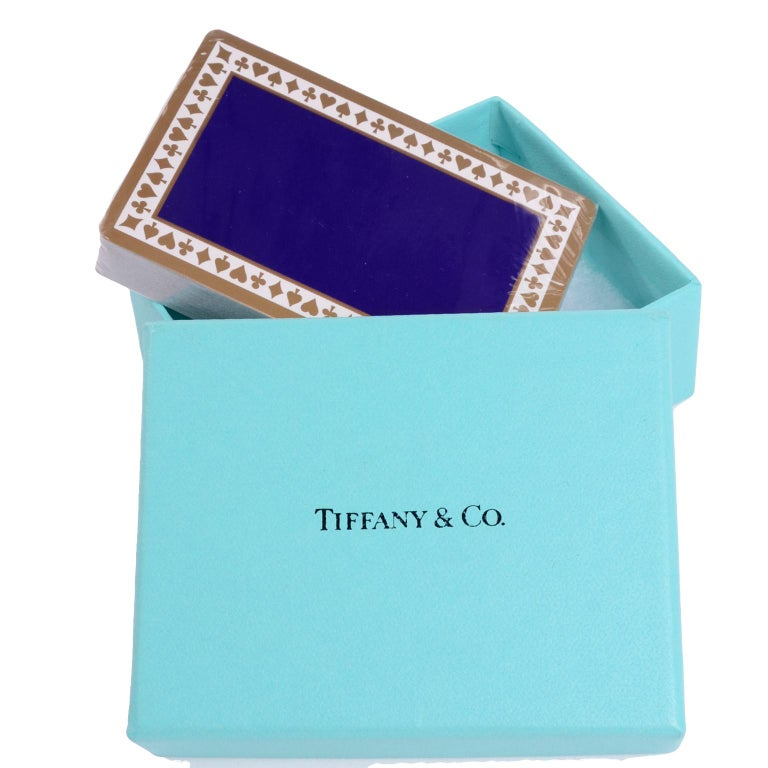 Women's or Men's Tiffany & Co Playing Cards New in Original Box in Original Packaging For Sale