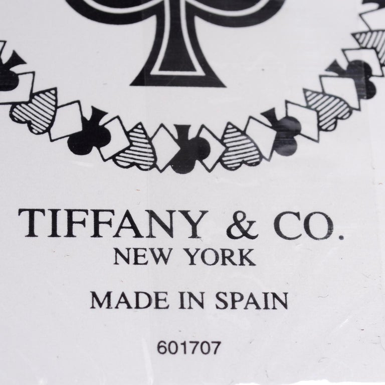 Tiffany & Co Playing Cards New in Original Box in Original Packaging For Sale 1