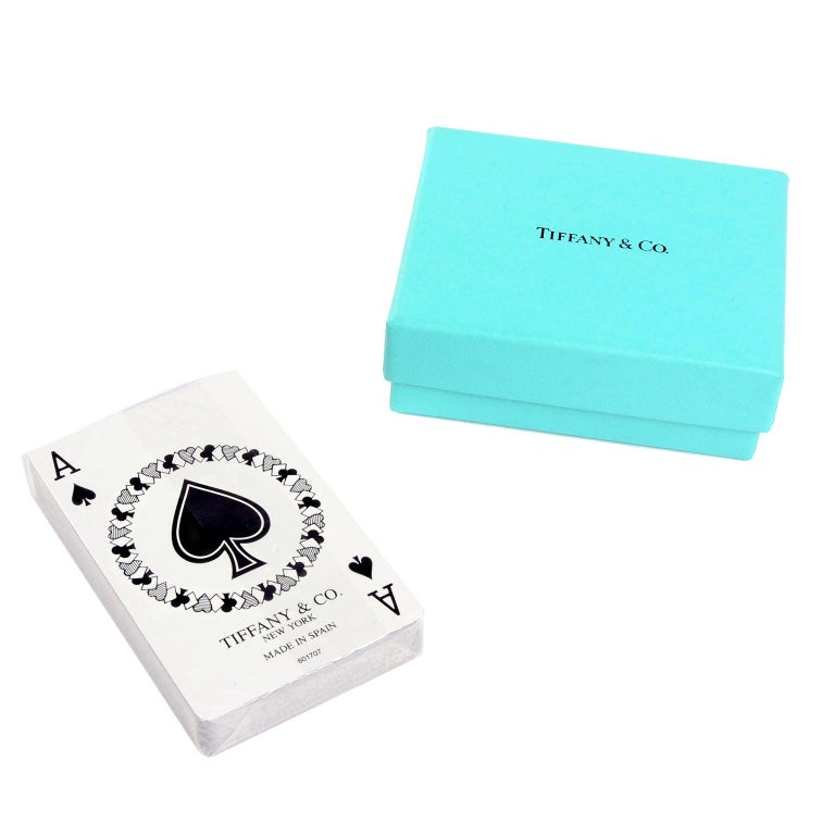 Tiffany & Co Playing Cards New in Original Box in Original Packaging For Sale