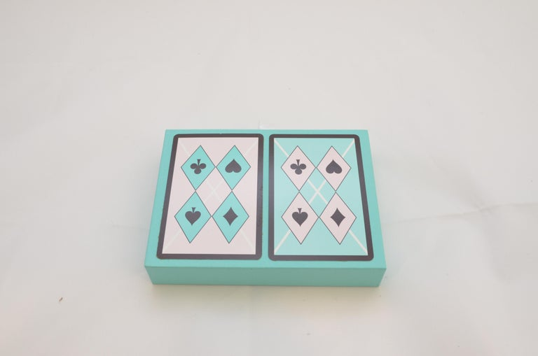 Tiffany & Co. Playing Cards Set with Harlequin Print In Excellent Condition For Sale In Carmel by the Sea, CA