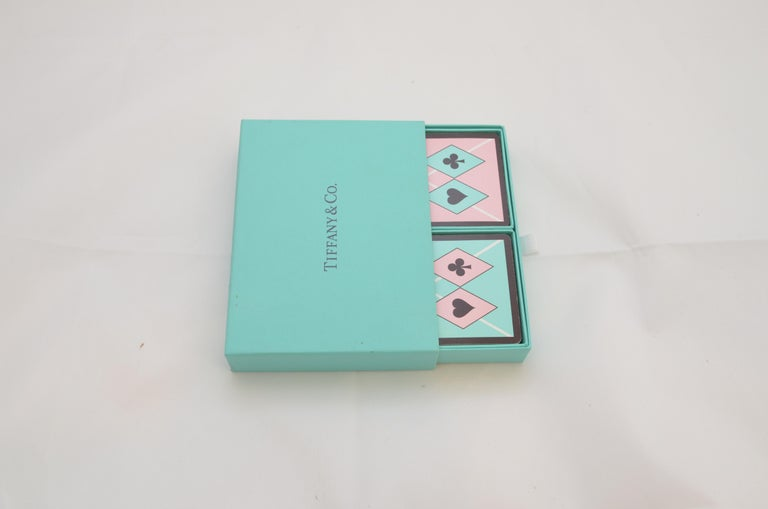 Women's or Men's Tiffany & Co. Playing Cards Set with Harlequin Print For Sale