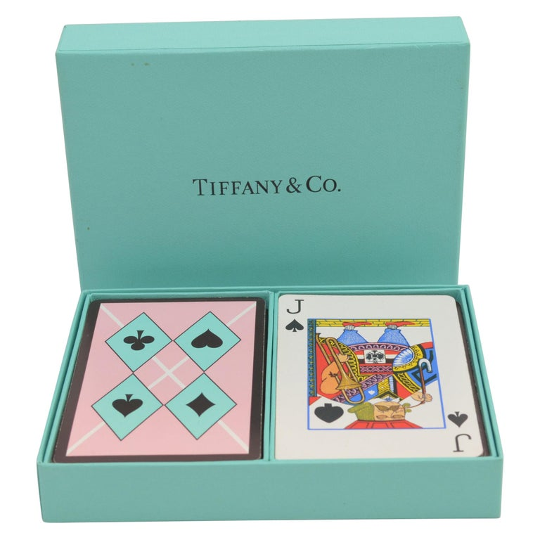 Tiffany & Co. Playing Cards Set with Harlequin Print For Sale