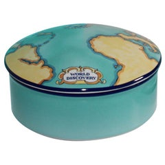 Tiffany & Co. Porcelain Lidded Trinket Box Designed for Tauck World France