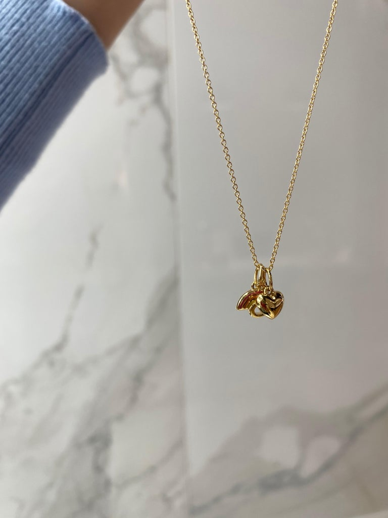 Women's or Men's Tiffany & Co. Pride and Joy Pendant, 18kt Yellow Gold For Sale