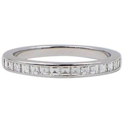 Tiffany & Co. Princess Cut 0.39 Carat Diamond Wedding Band Ring in Platinum