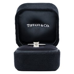 Tiffany & Co. Princess-Cut Diamond Engagement Ring with .88 Carat Centre F VVS2