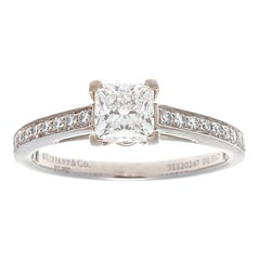 Tiffany & Co. Princess Cut Diamond Platinum Engagement Ring