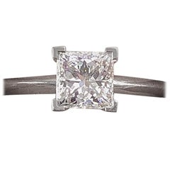 Tiffany & Co. Princess Diamond Engagement Ring 1.20 Carat F VS1 Platinum