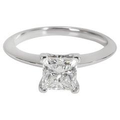 Tiffany & Co. Princess Diamond Engagement Ring in Platinum G VVS2 1.01 CTW