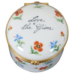 Tiffany & Co Private Stock Limoges France Trinket Box Love the Giver Keepsake