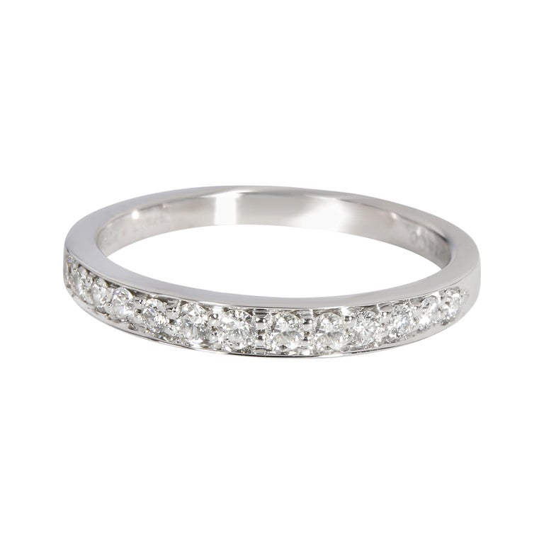 Tiffany & Co. Prong Set Diamond Wedding Band in Platinum 0.60 CTW For Sale