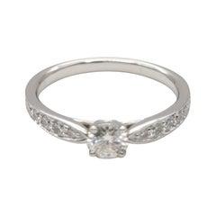 Tiffany & Co. PT950 Half Circle Diamants Ring