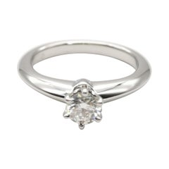 Tiffany & Co. PT950 Solitaire Diamants Ring