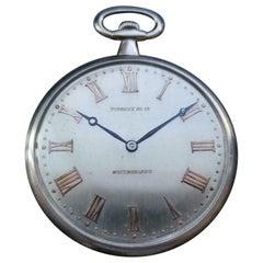 Tiffany & Co. Rare Platinum 14736 Pocket Watch, circa 1930s Swiss Luxury LV980