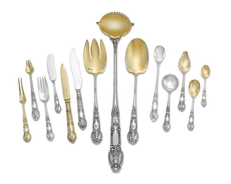 20th Century Tiffany & Co. Renaissance Silver Flatware Service, 417 Pieces For Sale